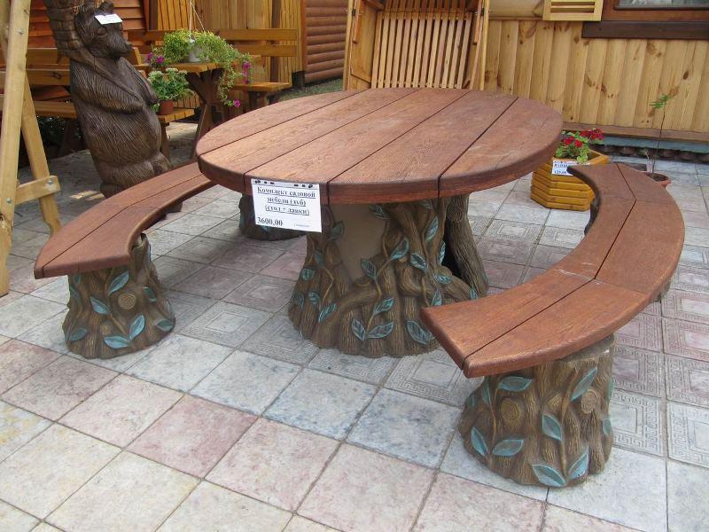 Скамейки в беседку из дерева