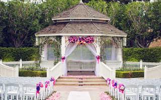 Свадебные беседки: 35 идей красивого оформления