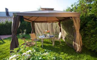 Беседка-шатёр: выбор материала и каркаса, фото идеи для дачи