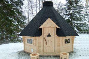 Финская беседка в снегу