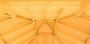 Шатровая крыша изнутри