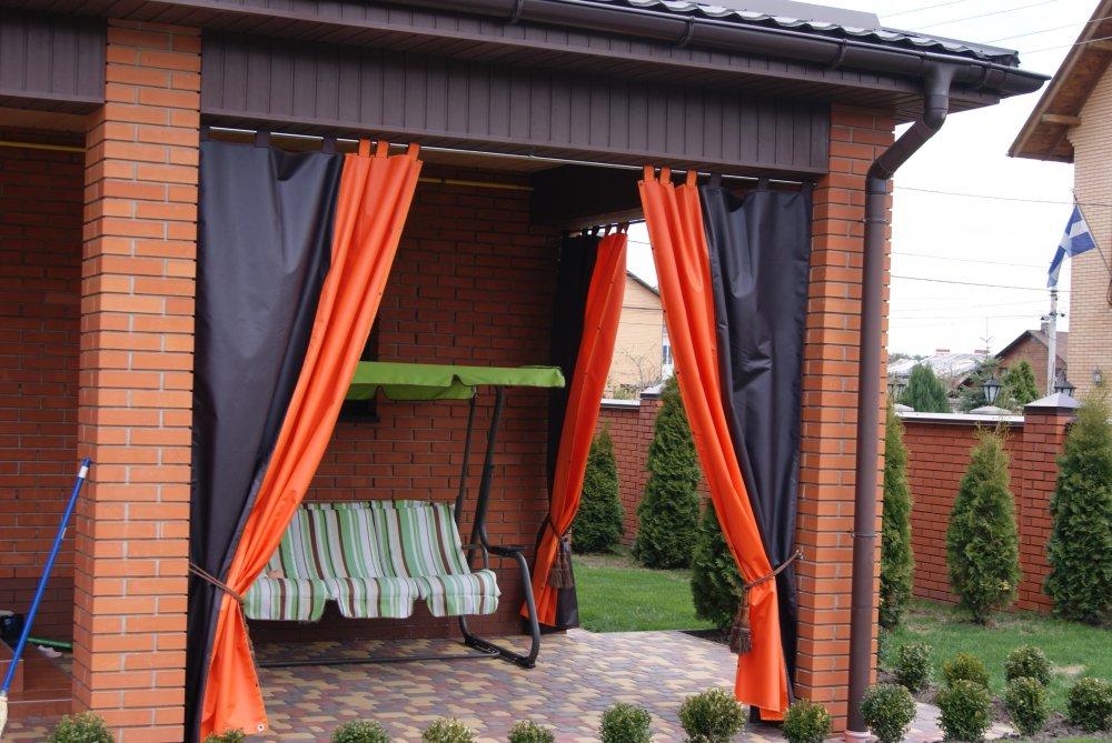 Уличные брезентовые шторы