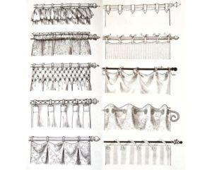 Идеи креплений для штор