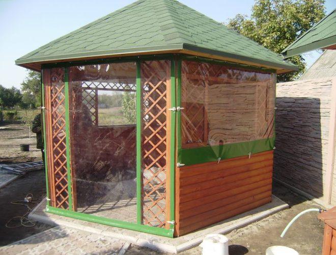 Зеленые ПВХ шторы