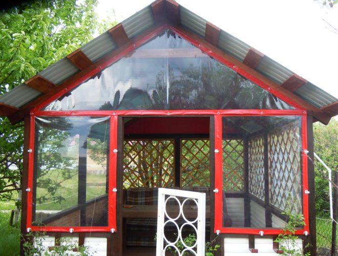 Красные шторы ПВХ