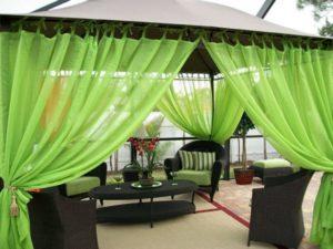 Зеленые шторки