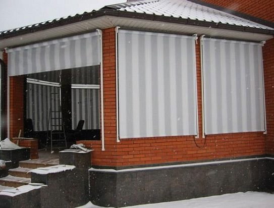 Зимний вариант рулонных штор