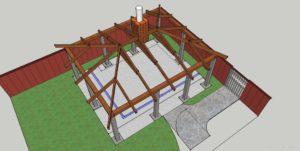 Чертеж четырехскатной крыши