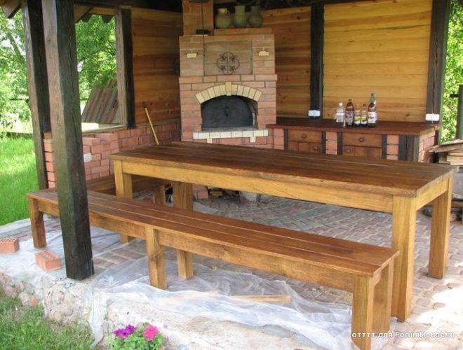 Как изготовить деревянную скамейку своими руками фото 912