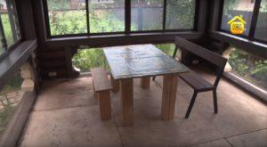 Мебель в беседке