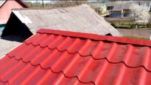 Готовая крыша с коньком