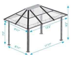 Проект четырёхскатной крыши из металла