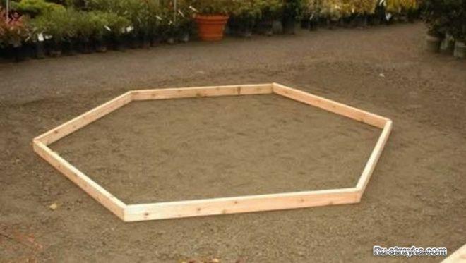 Обвязка в форме правильного шестиугольника
