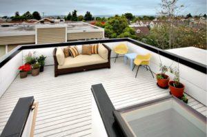 Шикарный интерьер на крыше