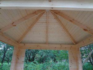 Готовая крыша вид снизу