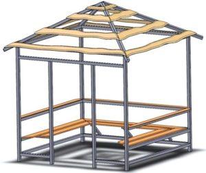 Проект квадратной беседки
