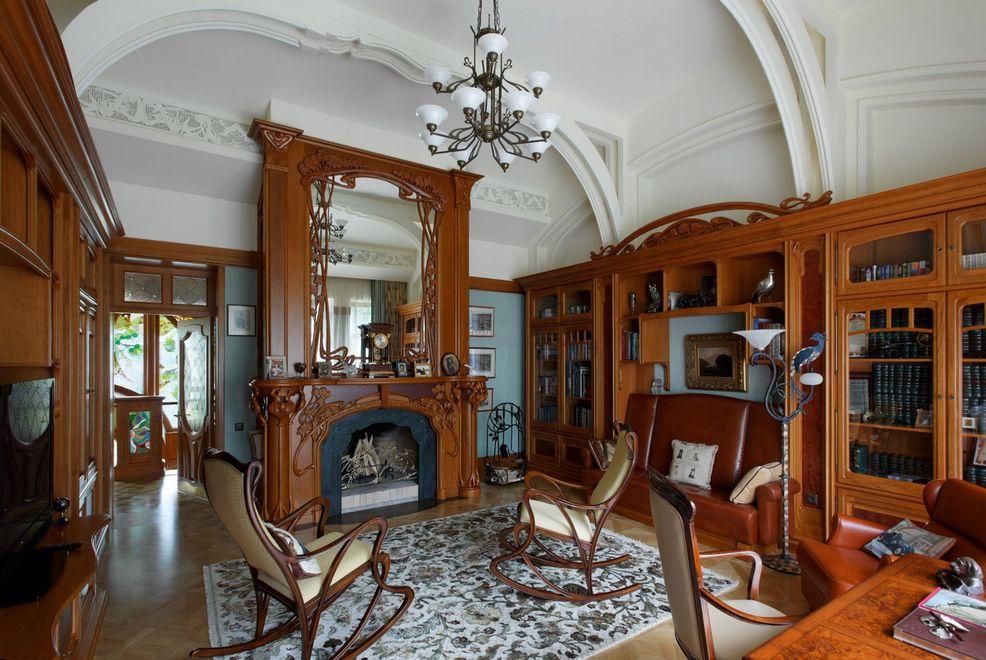 Классическая обстановка помещения в стиле Модерн