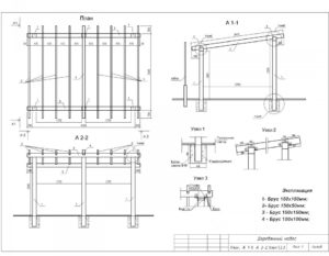 Проект деревянного навеса