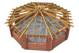 Большая крыша для беседки