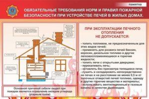 Требования пожарной безопасности для печей