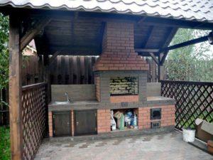 Печной комплекс под крышей