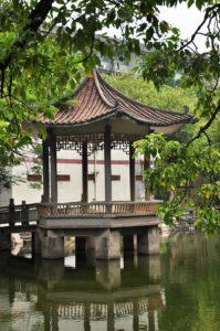 Китайская беседка на воде