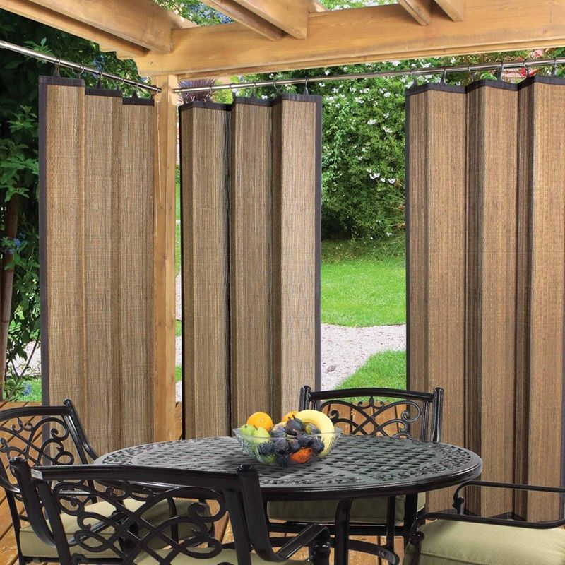 Бамбуковые шторы внутри