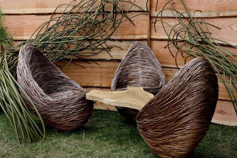 Стулья из плетения ивы