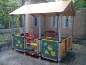 Идея развивающей беседки для детского сада
