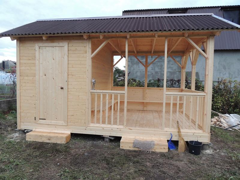 Проект баня с хозблоком под одной крышей 531 с ценами и фото