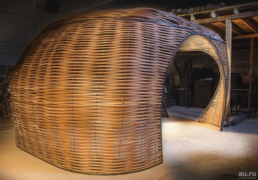 Сложное плетение круглой формы
